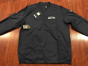 Nike Men's Seattle Seahawks Lockdown 1/2 Zip Jacket NFL Extra Large XL Football