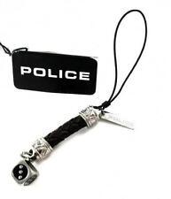 Portachiavi Uomo Police PJ20795MLC/02 Acciaio Pelle Nera Intrecciata Dado Filo