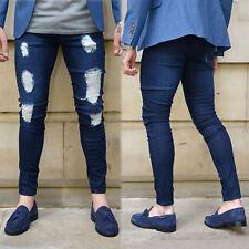 Herren Denim Jeans Hose Slim Fit Jeanshose Destroyed Skinny Stretch Röhrenjeans