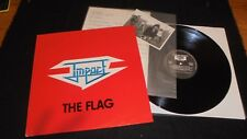 IMPACT The Flag Lp vinyl 1st press Private hard rock Holland 1987 PROMO signed
