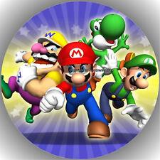 Fondant Tortenaufleger Tortenbild Geburtstag Super Mario T2  ( 1 )