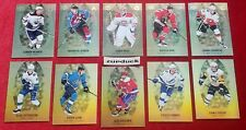 🏒2019-20 Tim Hortons ☆GOLD ETCHINGS SET☆ Complete Set (10)  Free Ship!!!
