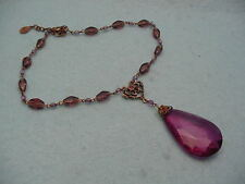 Vintage Robert Rose Lucite Victorian Style Necklace