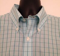 Brooks Brothers Button Front Shirt Non Iron 100% Supima Cotton Plaid Size Large