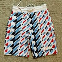 NWT Tommy Hilfiger Men's Geometric Print Drawstring Casual Sweat Sport Shorts