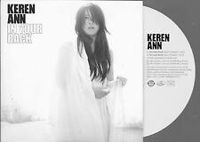 KEREN ANN - IN YOUR BACK- RARE  PROMO  - CD SINGLE  - 2  track