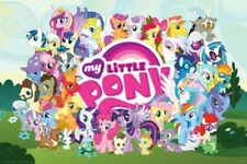 HASBRO MLP MY LITTLE PONY CAST POSTER 36x24 NEW FREE SHIPPING