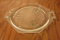 """EAPG Adams Baltimore Pear Gypsy Two Handled Platter Tray 10 1/2"""" Clear Glass"""