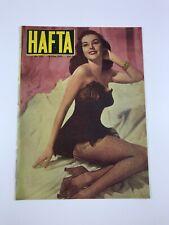 HAFTA #212 Turkish Magazine 1950s ELAINE STEWART COVER Ultra Rare VINTAGE ADS