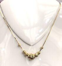 14K Solid Yellow Gold Chain/ Necklace Balls Pendant. Diamond Cut. 5.77Grams