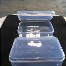 Clear Plastic Transparent Fine Storage Box CreditCard Collection Container Case