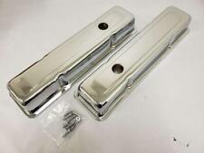 "1958 - 1986 Small Block Chevy Short 2-5/8"" Chrome Valve Covers 58-86 SBC 283 350"