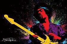 Jimi Hendrix Paint Music Poster Print Fender Stratocaster New 36x24 E11