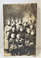 Church Of The Brethren Ottumwa IA RPPC Minister Cover Wife & Young Girls 1900's