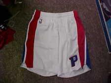 NBA 2016-17 Detroit Pistons White Blue/Red adidas Game Worn Shorts Size 5XL +4