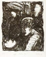 ELLEN FUHR - CAFÉ ANDERES UFER - Lithografie 1987