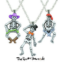 TFB - FUNNY BONES HALLOWEEN NECKLACE Quirky Pendant Skeleton Funky Fancy Dress