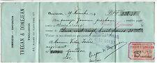 TRAITE 1894 TREGAN ET DOMEJEAN TOULOUSE COMMISSION CONSIGNATION TIMBRE FISCAL