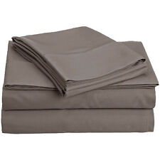 Hotel Grand 1000TC Egyptian Cotton Rich Sheet Set King in Gray