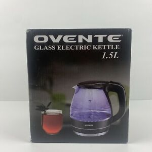 Ovente KG83B Series 1.5L Glass Electric Kettle Black Makes Cold Water Really Hot
