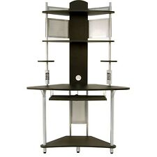 Computer Desk For Small Spaces Student Multimedia Storage Tower Dorm Silver