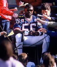 1987 LAWRENCE TAYLOR New York Giants FOOTBALL Glossy Photo 8x10 SUPER BOWL XXI