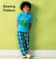 Kwik Sew K3999 Pattern Boys Top, Shorts & Pants XXS-M BN