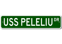 USS PELELIU LHA 5 Ship Navy Sailor Metal Street Sign - Aluminum