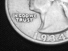 1934 DDO Double Die Obverse Washington Quarter --- RARE  --- Fine +++ / VF