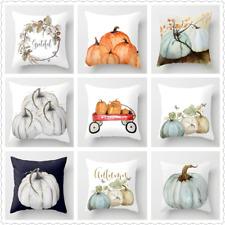 Watercolor Pumpkin Cushion Cover Pillow Case Halloween Thanksgiving Day Decor