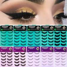 Natural Style False Eyelashes Makeup Extension Soft Upper and Lower Eyelashes