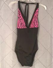 New Ujena Halter Zebra One Piece Swimsuit~High Cut Size 10