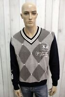 LA MARTINA Taglia XL Maglione Uomo Lana Sweater Pullover Maglietta Maglia Man