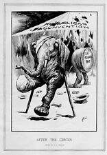 REPUBLICAN CONVENTION ELEPHANT BATTERED AND CUT IN HALF AFTER THE CIRCUS TENT