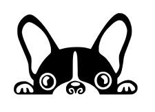 French Bulldog Decal Sticker. Cute Fun Frenchie Dog Car Window vinyl Bouledogue