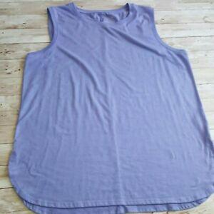 TEK GEAR Women's Active light lavender/purple tank top scoop neck Large