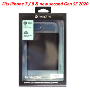 New Mophie Hard Cover Case for Apple iPhone 7 / 8 & new SE 2020 - Clear & Black