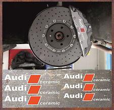 6 Stück Audi ceramic Bremssattel Aufkleber Sticker Hitzebeständige RS4 R8 S4 S5