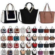 New Womens Handbags Ladies Shoulder Tote Designer Bags Faux Leather Large