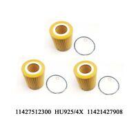 3PCS Oil Filter For BMW E36 E39 E46 E53 E60 E83 E85 Z3 323i 325i 328i 525i X5 Z4