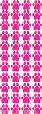 40 PAW PRINT STICKERS Hot Pink Car Wall Stickers Decals Graphics Cat Dog hp