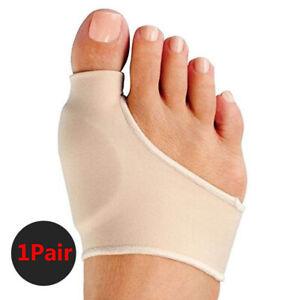 2x Big Toe Bunion Splint Straightener Corrector Foot Pain Relief Valgus Beige