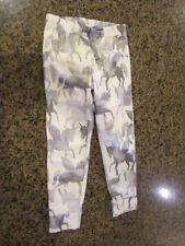 JUSTICE Girls 6/7 Gray Unicorn PJ'S Pajama pants Sleep tie draw string NWT New