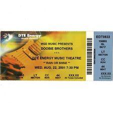 THE DOOBIE BROTHERS Concert Ticket Stub CLARKSTON 8/22/01 JESUS IS JUST ALRIGHT