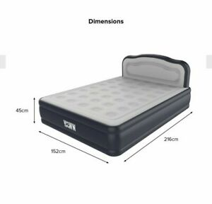 Luxurious King Size YAWN  Self-inflating Airbed Mattress with Built-in Pump.
