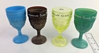 LOT 4 Greentown Glass Museum 1996 -1999  Chocolate Glass Goblet - Boyd Glass