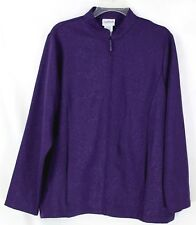 Bon Worth Women's Small Plum Purple Lightweight Zip Front 2 Pocket Dressy Jacket