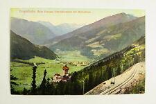 Tauernbahn beim Schloß Unterfalkenstein mit Mölltal Blick / AK 55
