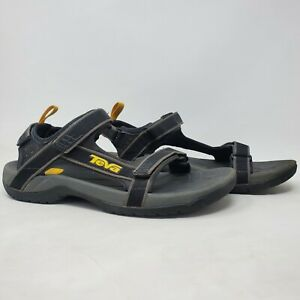 Teva Mens 4141 Tanza Comfort Adjustable Strap Black Gray Sports Sandals Size 13