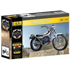 Heller 52994G 1:8th scale Yamaha TY125 Model gift set Kit, Paint, glue & Brush